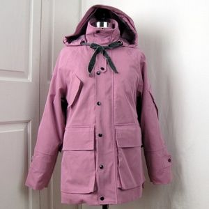 Paiye Orchid Hooded Coat Deep Front Pockets